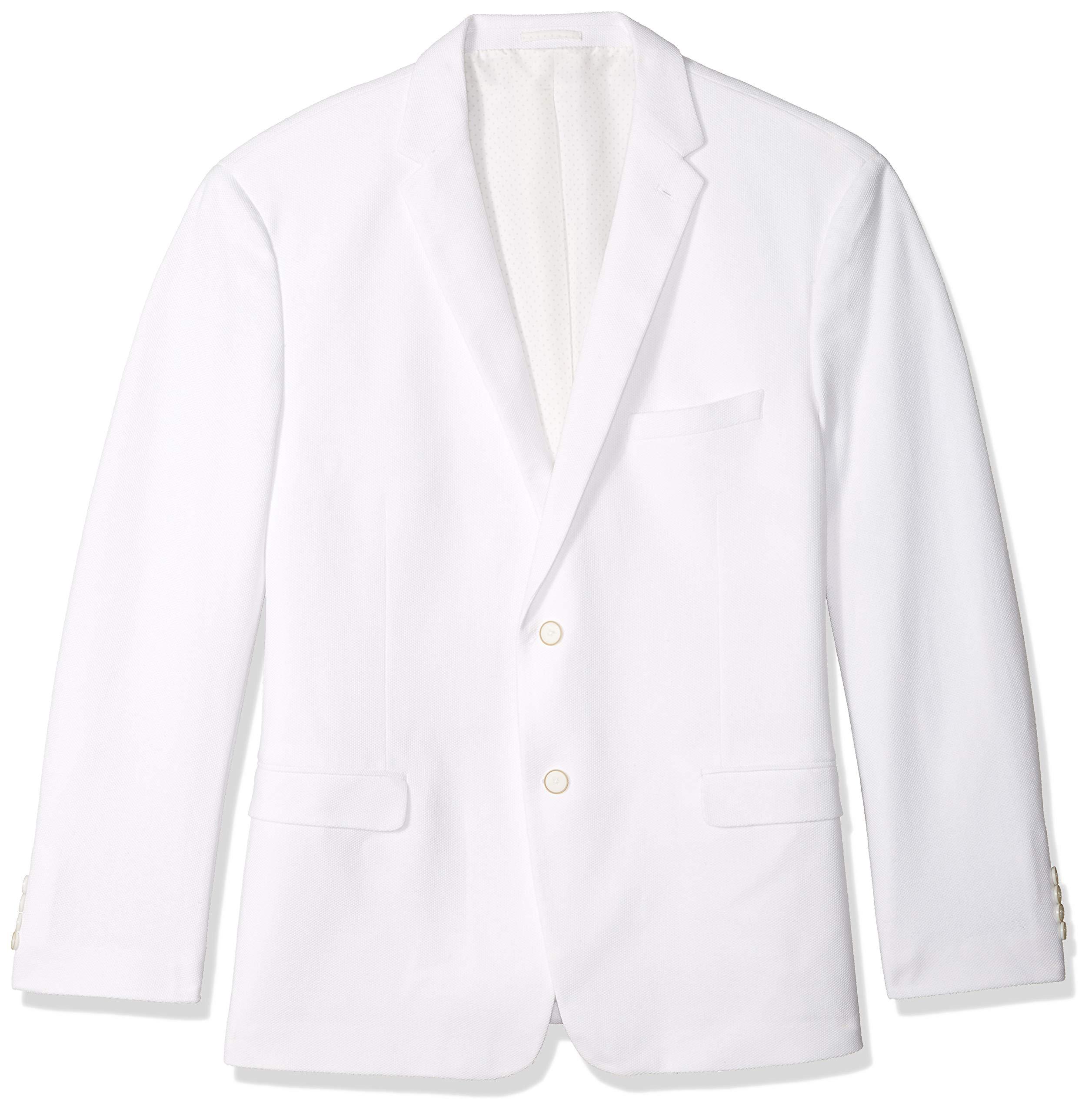 U.S. Polo Assn. Men's Big and Tall Cotton Blend Knit Sport Coat, White, 50 Long