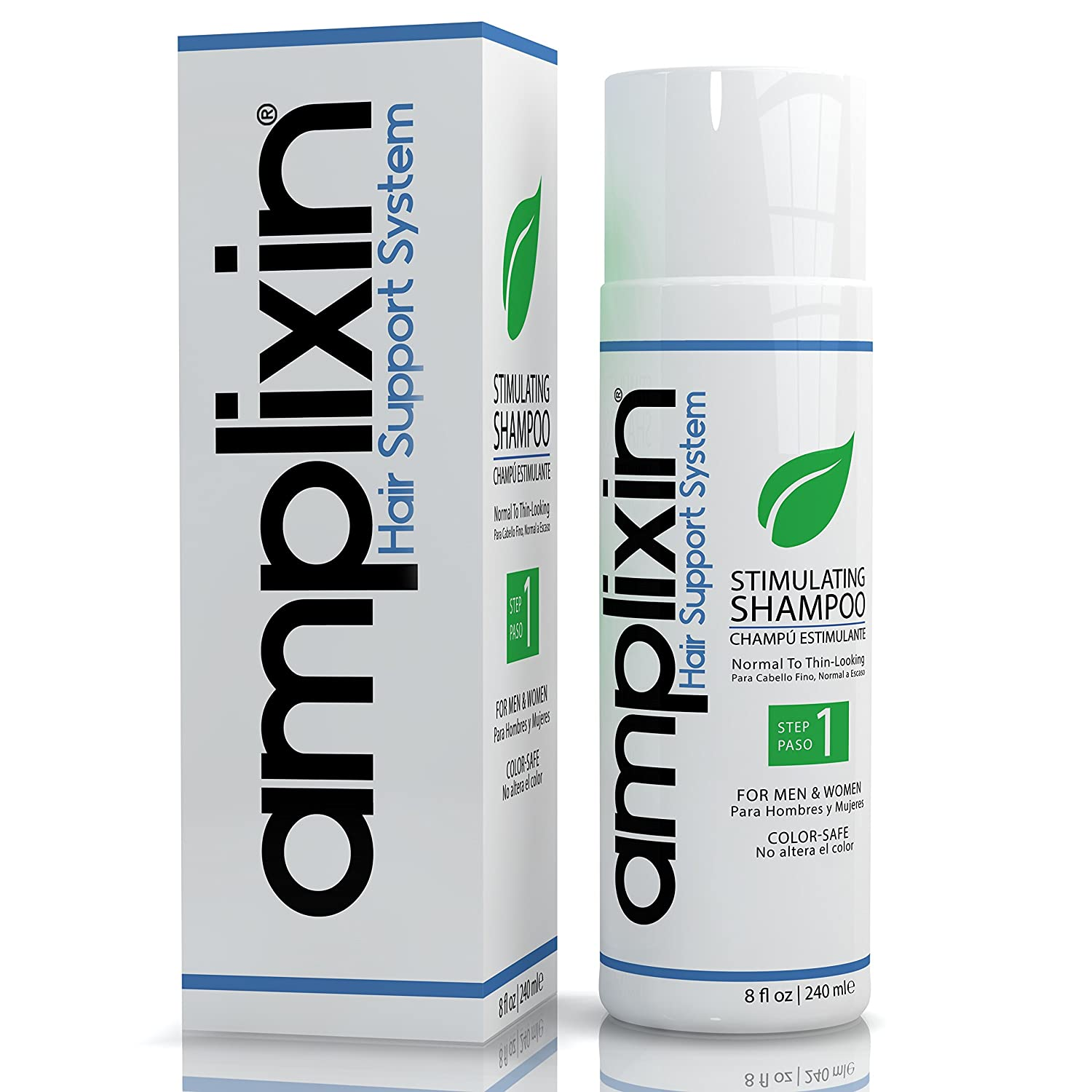 Amplixin Stimulating Hair Growth Shampoo for Women & Men, Anti Hair Loss Product for Normal To Thinning Hair S1001