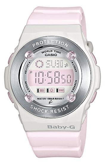 Casio BG-1301-4ER - Reloj digital de mujer de cuarzo con correa de resina rosa (cronómetro, alarma, luz) - sumergible a 100 metros: Amazon.es: Relojes