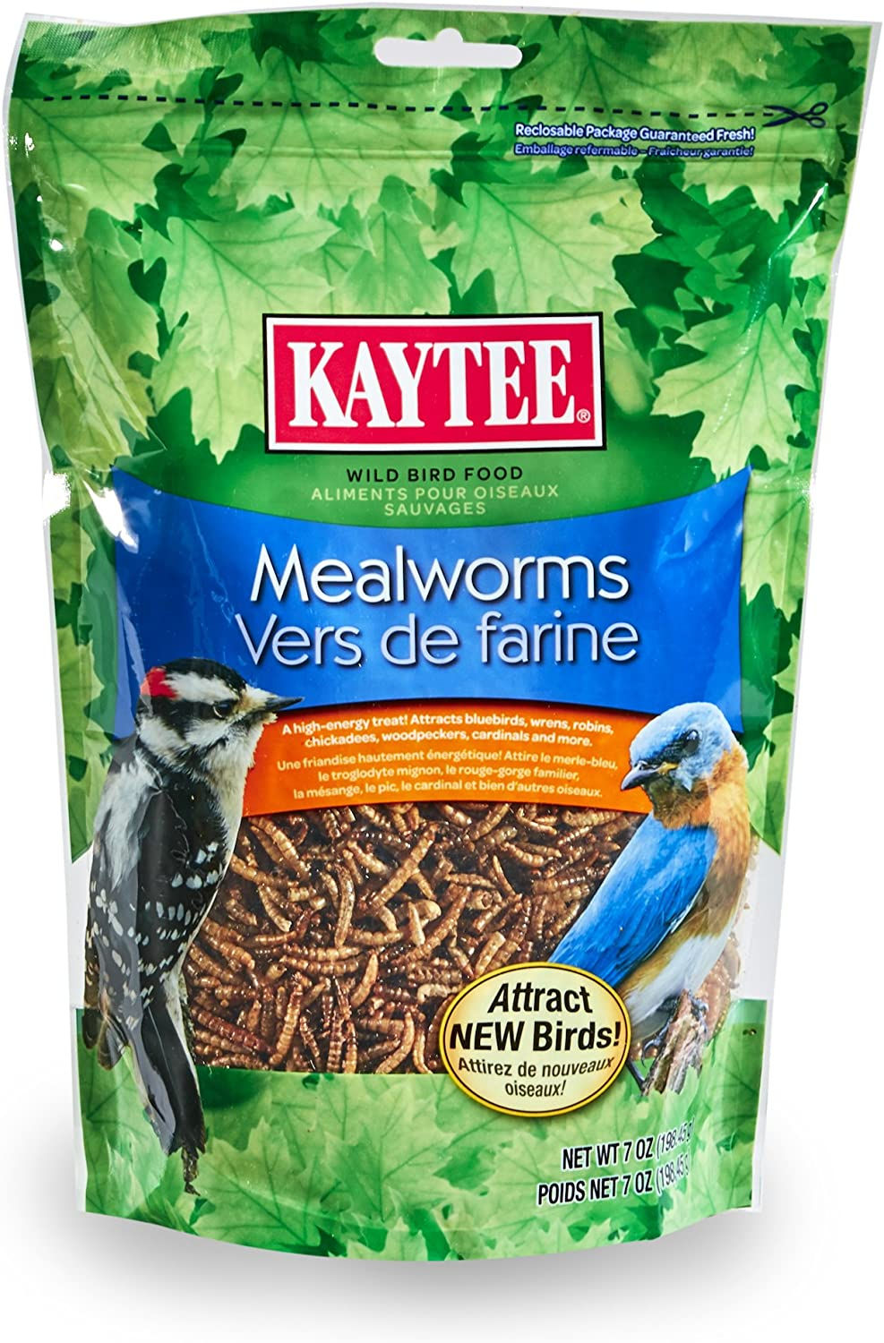 Kaytee Mealworms, 7-Ounce Pouch