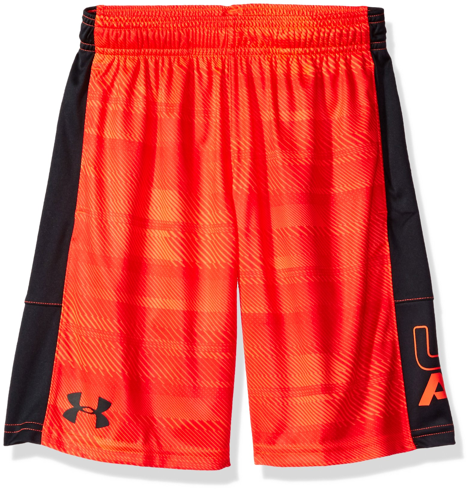 Under Armour Boys' Instinct Printed Shorts, Magma Orange /Anthracite Youth X-Small