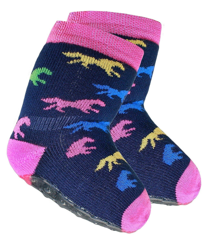 EveryKid Ewers 1er, 2er oder 3er Pack Mädchenstoppersocken Stoppersocken ABS Socken Antirutsch Vollsohle schadstofffrei für Kinder mit Pferde (EW-221038-W17-MA3) inkl Fashionguide