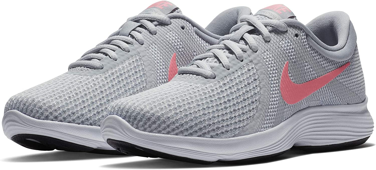 Nike Women s Revolution 4 Running Shoe, Pure Platinum Sunset Pulse-Wolf Grey, 12 Regular US