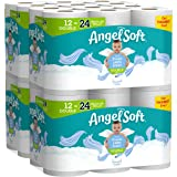 Angel Soft Toilet Paper, Linen Scent, Double Rolls, Bath Tissue, 12 Count of 214 Sheets Per Roll, Pack of 4, White…