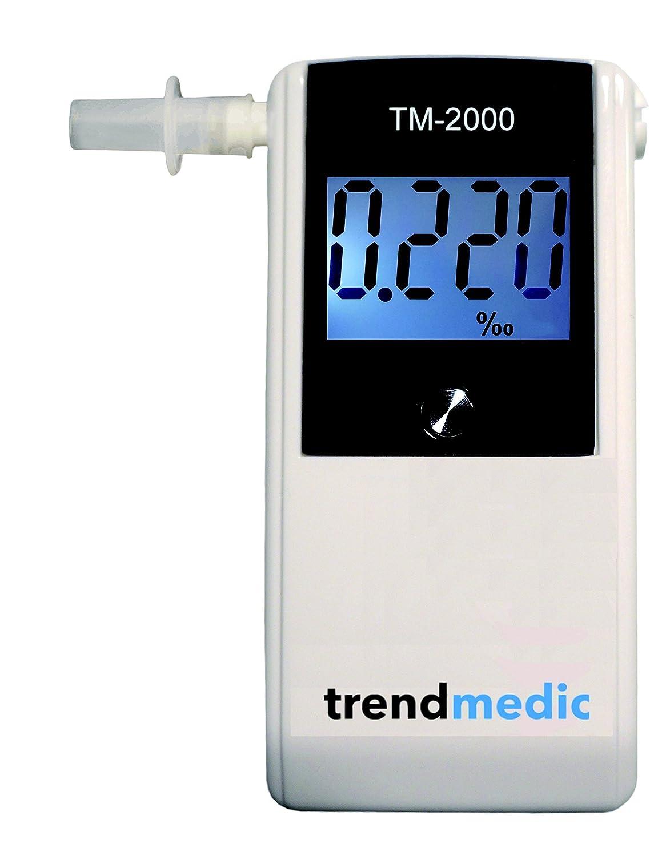 Alkoholtester Trendmedic TM-7500 - Digitaler Atemalkohol-Tester mit elektrochemischen Sensor - polizeigenau - Anzeige in Promille