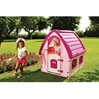 Starplast Pink Fairyhouse Indoor Outdoor Activity Plastic (L) 125 x (W) 102 x (H) 121cm