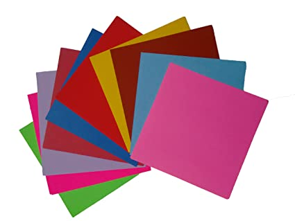 Beemall Origami Papers 100 Sheets 10 Different Colours Both Side