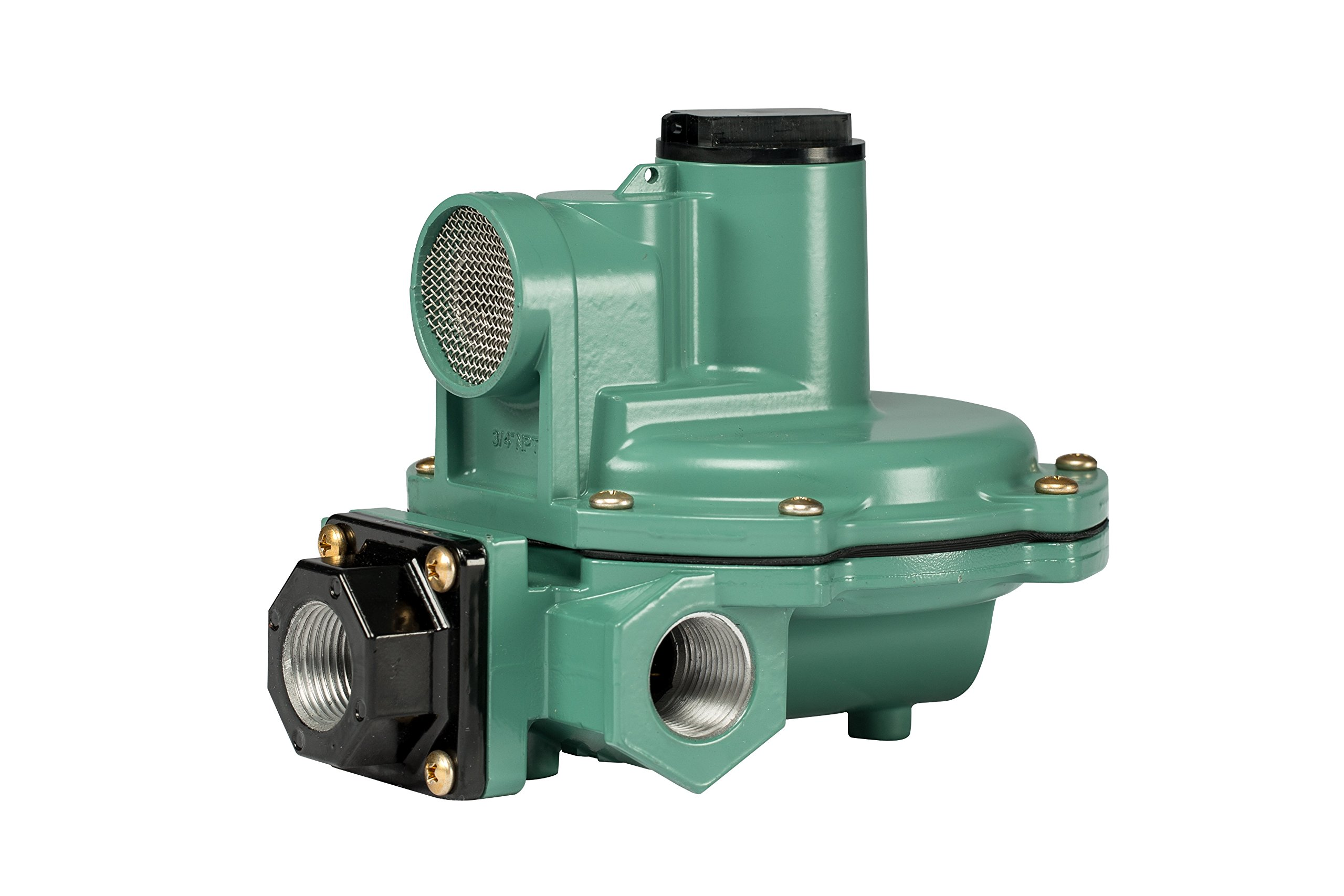 Emerson-Fisher LP-Gas Equipment R642-DFF 2nd Stage Regulator, Side Outlet, 9-13'' W.C Spring, 3/4'' x 3/4'' NPT