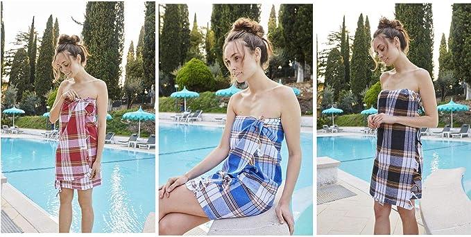 Carenesse Panno Hammam Set di 4 quadretti blu nero rosso porpora 100/% cotone 80x175cm Asciugamano da bagno turco da spiaggia da viaggio Peshtemal
