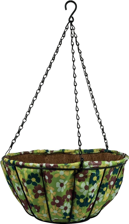 "14"" Garden Party AquaSav Hanging Basket - Floral"