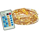 Radiance Dimmable Starry String Lights, 33 ft, Copper Wire, Warm White