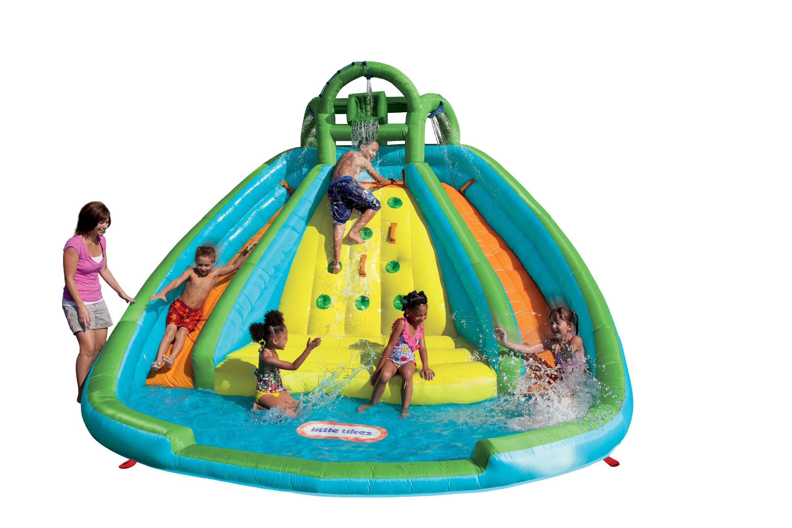 Little Tikes Rocky Mountain River Race Inflatable Slide Bouncer (Renewed)