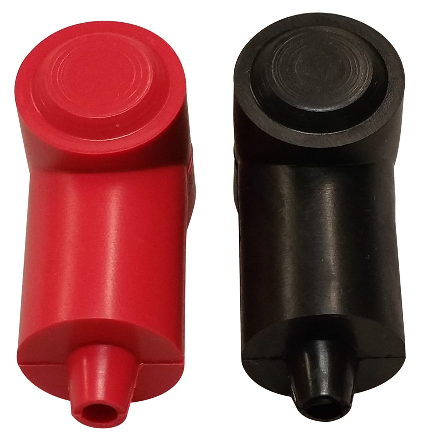 1//4 Stud Terminal Cover Electrical Battery Connection Insulator 2 Pack Red