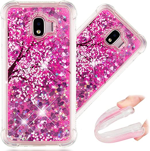 Grand Prime Pro Case Samsung Galaxy J2 Pro 2018 Lyzwn Cute Glitter Sparkle Bling Clear Transparent Shockproof Drop Protection Soft TPU Phone Case Cover With Finger Grip Ring Stand Holder