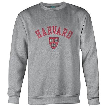 Ivysport Harvard University Sweatshirt Team Vintage Logo, 80% Cotton / 20% Polyester,