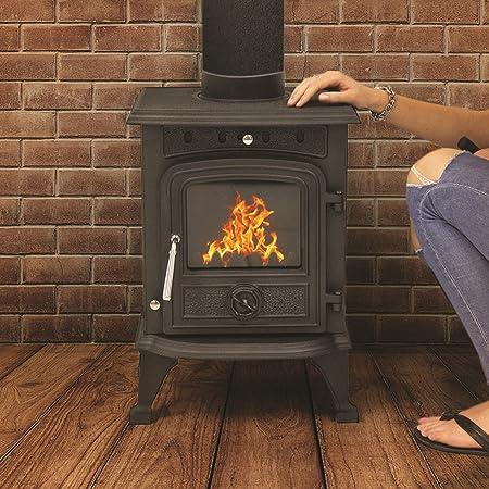 wood burning fireplace. WOODBURNING STOVE 4 5KW HIGH EFFICIENT CAST IRON LOG BURNER MULTIFUEL  FIREPLACE