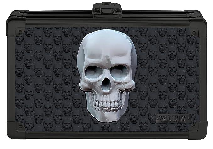 "Vaultz Locking Supply Box 5/"" x 2.5/"" x 8.5/"" Treadplate VZ03608 1 Pack"