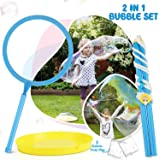 TOY Life Big Bubble Wand for Kids Set - Giant Bubble Wand Makes Huge Bubbles - Great Outside Toy for Kids Ages 4-8…