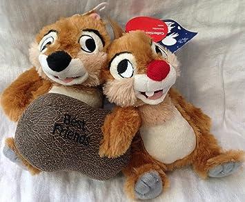 """Original authentic Disney Store - Chip y Chop mejores amigos de peluche de juguete - 7"""""""