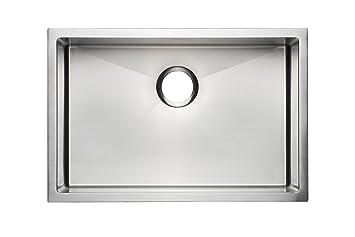 27u0026quot; Premium Quality Handmade Stainless Steel Kitchen Sink Single Bowl  / Undermount ...