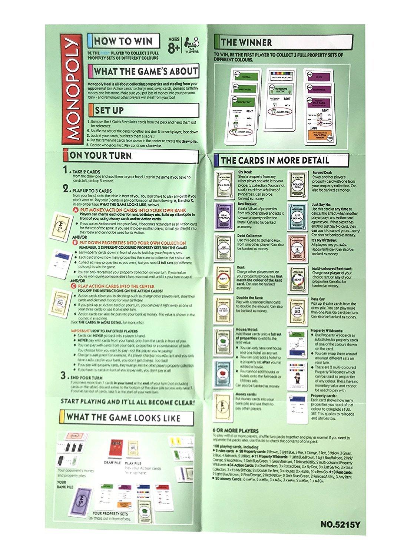 Vzom Populäres Monopoly Deal Kartenspiel Themenorientiertes