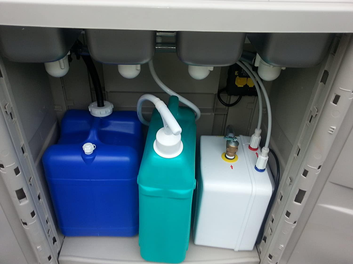 Portable Sink with hot water Mobile Concession 4 Compartment ...