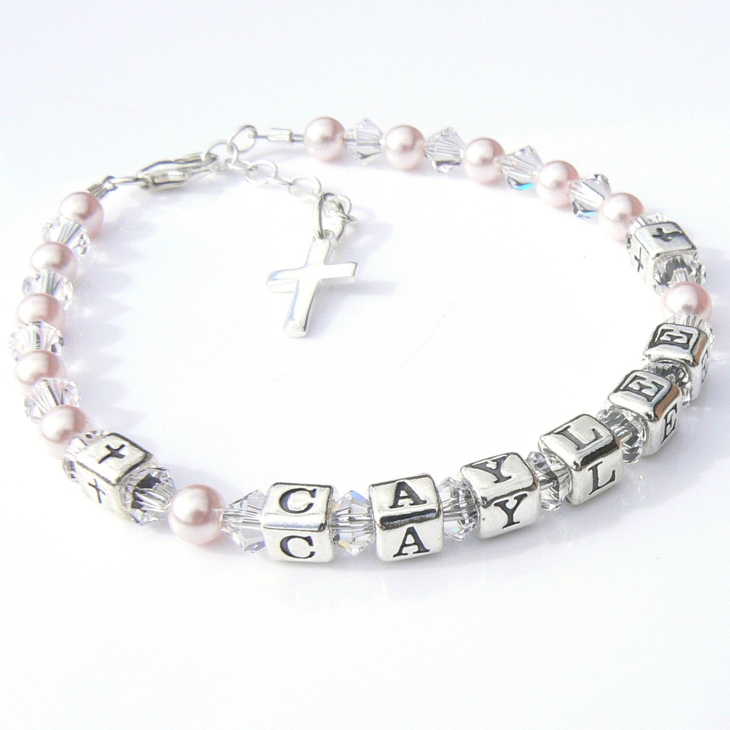 Childrens Name Bracelet - First Holy Communion Gift - Boxed Occasions Emporium