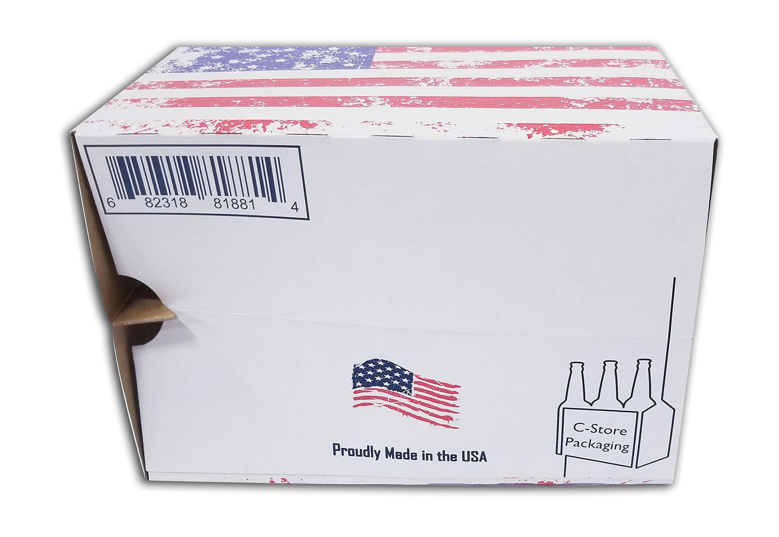 6 Pack Beer Bottle Holders White or Brown Kraft (Flag)