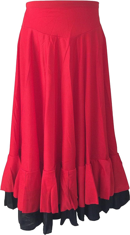 La Señorita Falda Flamenco Sévillane con 2 Volantes niña Rojo ...