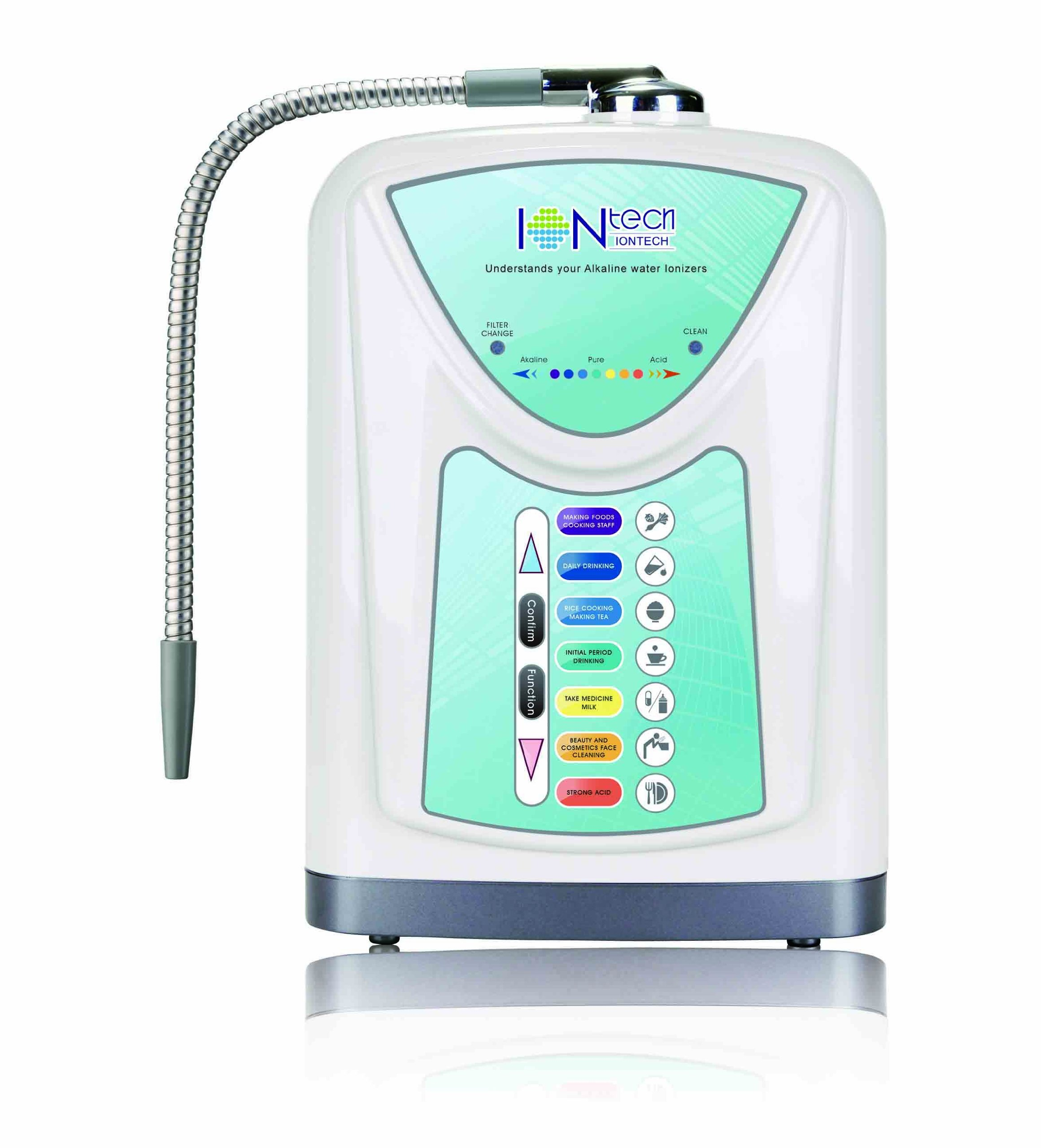 NEW Alkaline Water Ionizer Machine with Filter IONtech IT-580 by IntelGadgets. Powerful, Affordable, FREE Filter.