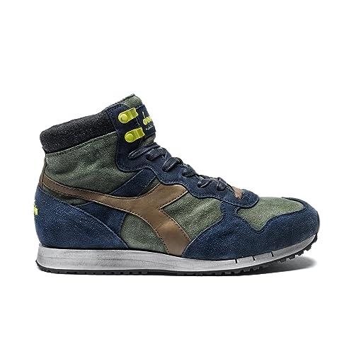 688b149abec1a Diadora Heritage - Sneakers Trident Mid S SW per Uomo IT 43  Amazon ...