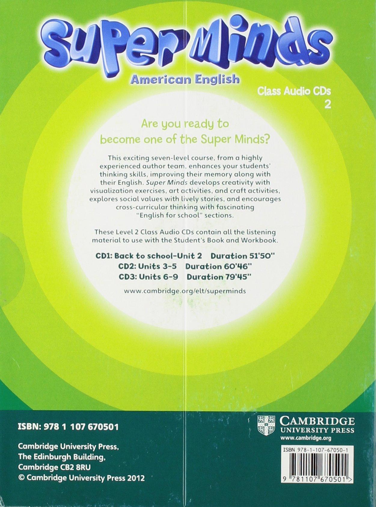 Super Minds American English Level 2 Class Audio CDs (3