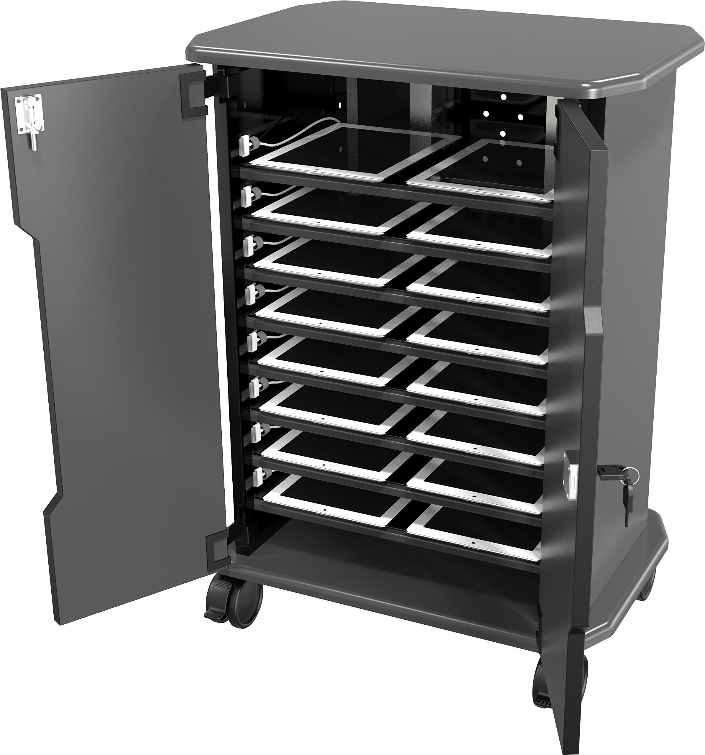Balt Tablet Charging Cart, 27689, 16 Compartments, 30.75''H x 22.5''W x 15.75''D by Balt