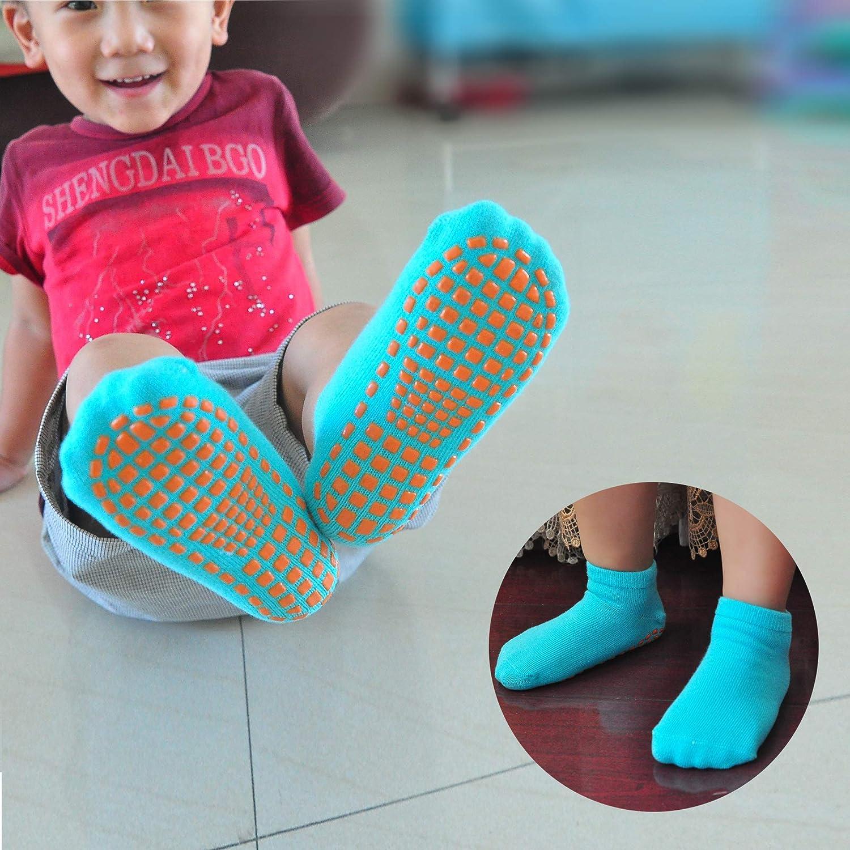 MaoXinTek Baby Antirutsch Socken Stoppersocken Kinder 8 Paare Rutschfest Grip Kn/öchelsocken f/ür Kleinkind S/äugling Neugeborenes 12-36 Monate M/ädchen oder Jungen