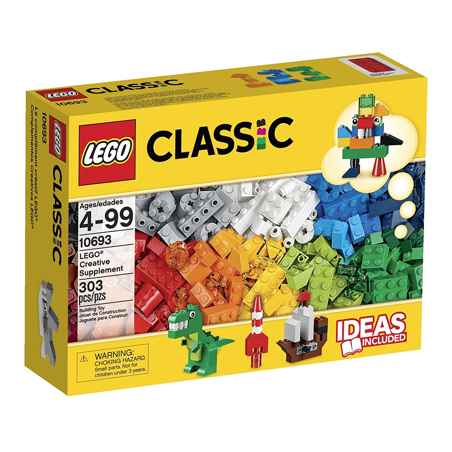 $15.3 LEGO® Classic Creative Supplement 10693 Learning Toy 303 Pcs