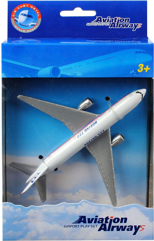 Name Flugzeuge // Gro/ßraum La.. Set: Flugzeuge aus Metall inkl alles-meine.de GmbH 2 TLG bewegliche R/äder Boeing 747 777 // Triple Seven Jumbo-Jet Ma/ßstab 1:420-15 cm
