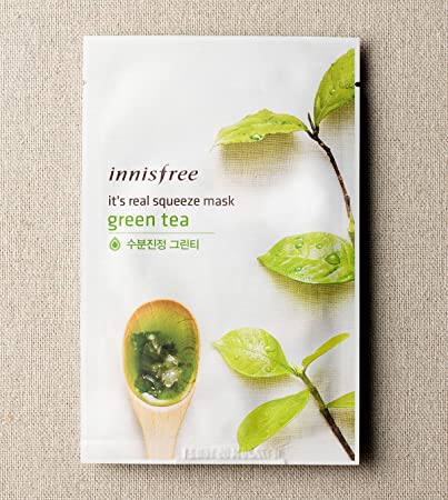 innisfree It s real squeeze mask 15 pack, Green Tea