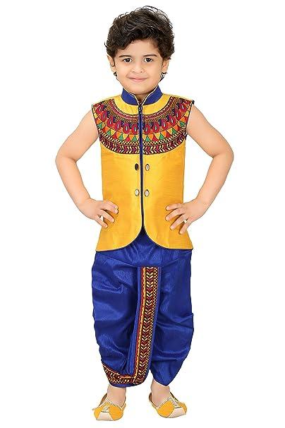 094bf100b Kute Kids Boys Ethnic Dhoti Kurta Set (Multicolour