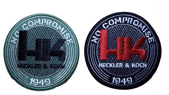 with VELCRO/® brand hook fastener HK Firearms Heckler /& Koch Logo Operator Cap Jacket Backpack Military Tactical Airsoft Paintball Patch 7,6 x 5 cm H/&K /Écusson Brod/é hook fastener
