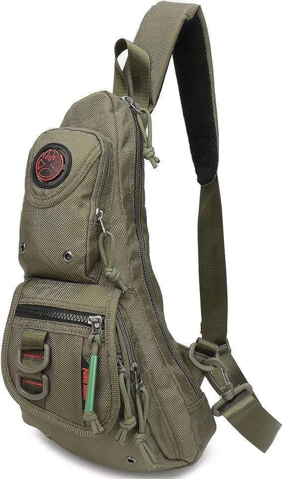 Sports Travel Men Women Nylon Sling Bag Backpack Crossbody Shoulder Chest Bag US