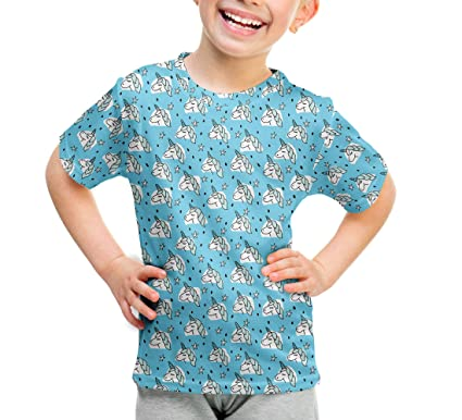 Unicorn Stars Kids Cotton Blend T-Shirt Unisex