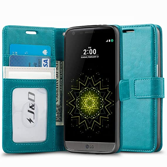 new concept 30884 b8f6f J&D Case Compatible for LG G5 Case, [Wallet Stand] [Slim Fit] Heavy Duty  Protective Shock Resistant Flip Cover Wallet Case for LG G5 Wallet Case -  ...