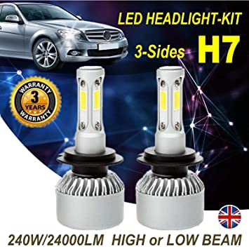 Car H7 Bulb Set Headlight Bulbs Xenon Bright White Lights For Opel