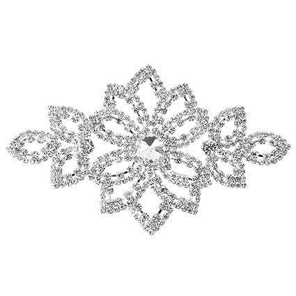 Pedrería Motivo Cristales Para coser Parche Aplique para la boda Vestido De Novia, Informal,