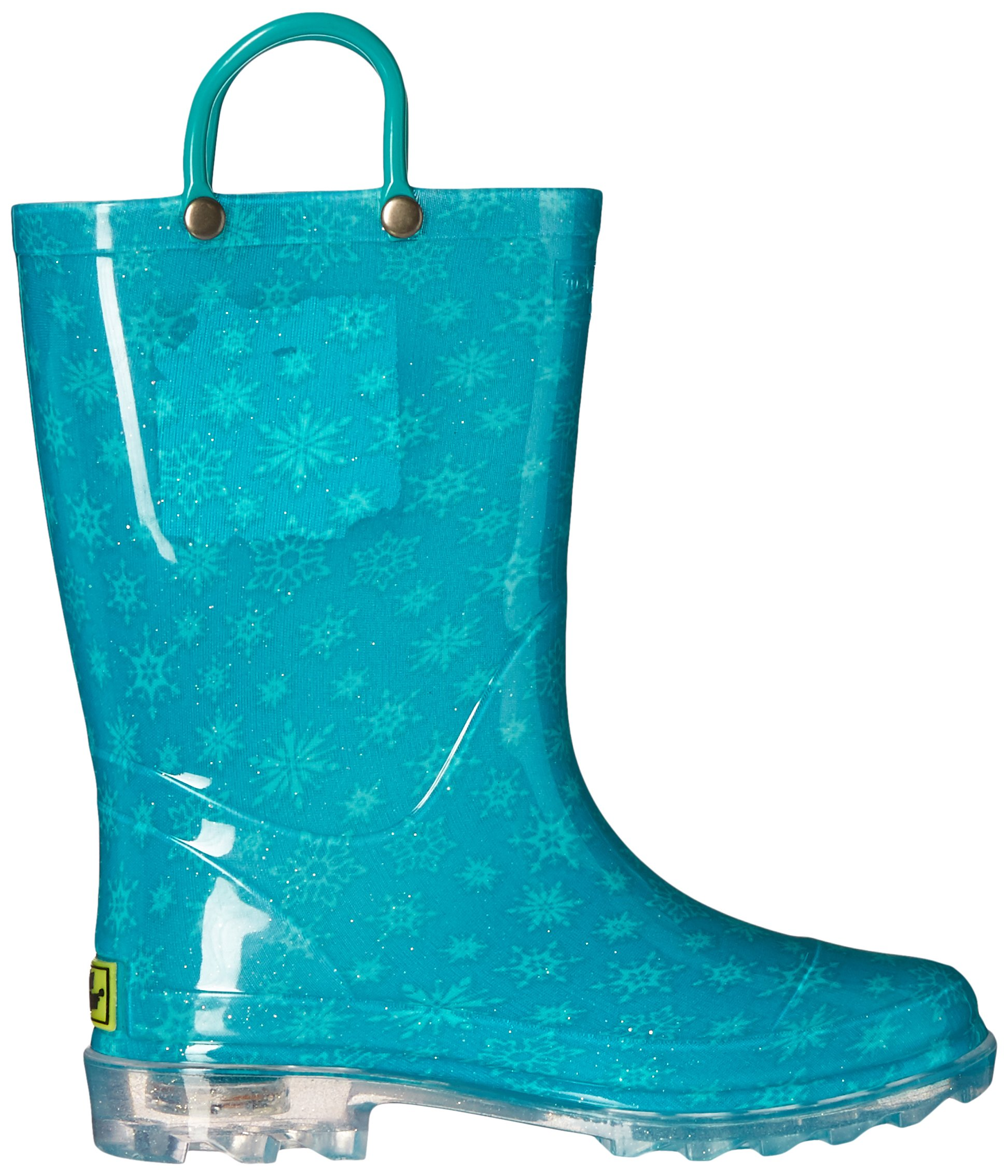 Western Chief Kids Girls' Waterproof Rain Boots That Light up with Each Step, Frozen Elsa and and, 13 M US Little Kid by Western Chief (Image #7)