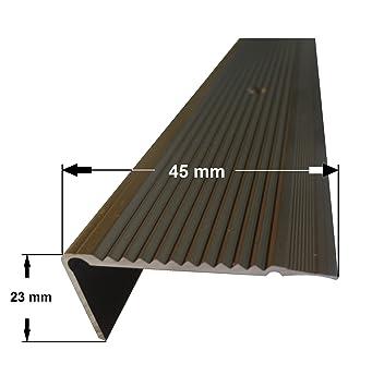23 mm x 45 mm x 1,55 m Silber verschiedene Gr/ö/ßen Treppenkanten Winkelprofil Treppenwinkelprofil Treppenprofil Treppenstufenprofil