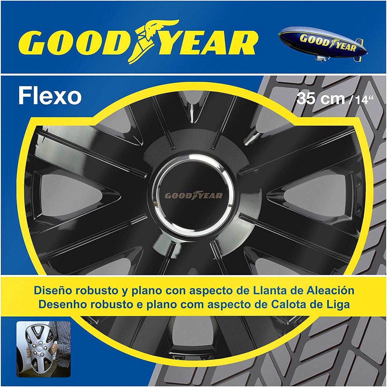 Schwarz Goodyear Radzierblende Typ Flexo 10-14 Zoll Farbe