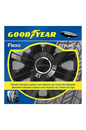 Good Year GOD9025 Flexo 10 Tapacubos de 14 Pulgadas, Negro, 35,5 cm, Set de 4: Amazon.es: Coche y moto