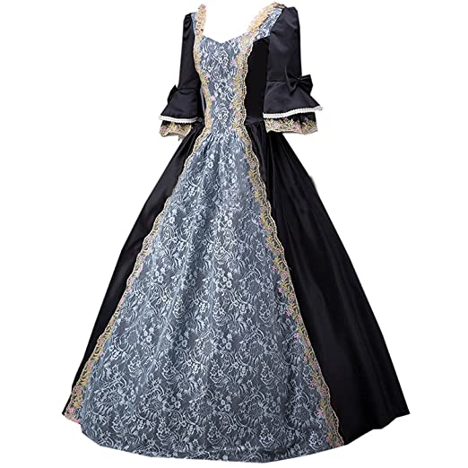 18th Century Period Dress Victorian Princess Dress Gown Reenactment Clothing Long Costumes Custom Made All Size Home