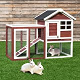 "Tangkula 48"" Chicken Coop Outdoor Garden Backyard Large Wood Hen House Rabbit Hutch Poultry Cage with Outdoor Run"